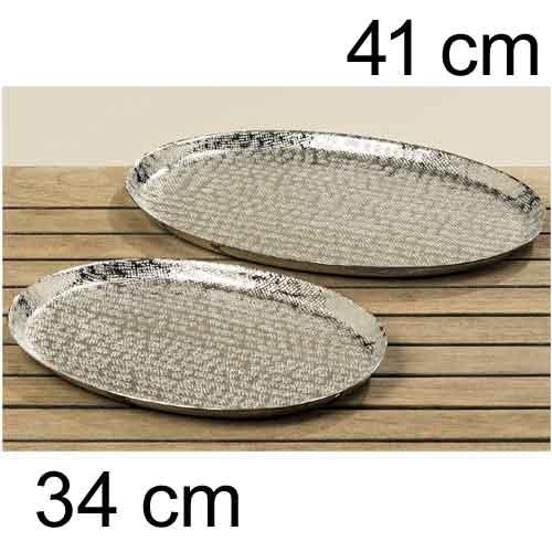 Deko tablett silber 28 38 cm eckig metall dekoschalen - Deko tablett metall ...