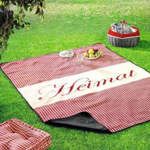picknickdecke heimat 150x200 beschichtet stranddecke picknikdecke xxl picknick ebay. Black Bedroom Furniture Sets. Home Design Ideas
