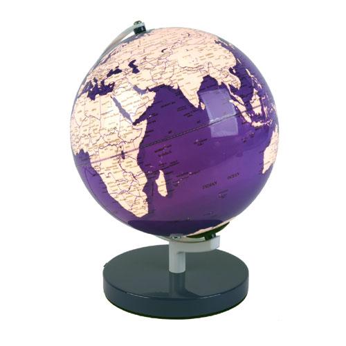 leuchtglobus lila leucht globus beleuchtet weltkugel. Black Bedroom Furniture Sets. Home Design Ideas