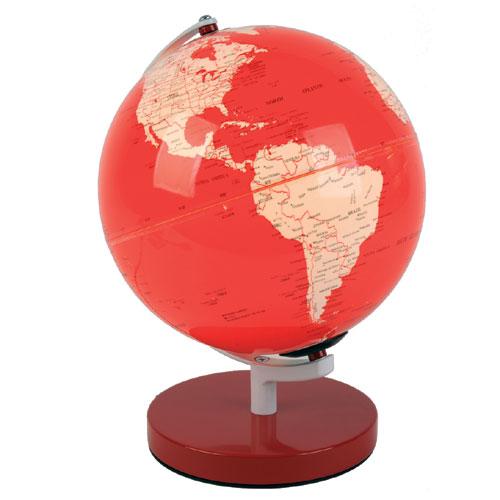 leuchtglobus rot leucht globus beleuchtet weltkugel globen. Black Bedroom Furniture Sets. Home Design Ideas