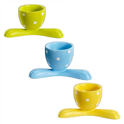 lustige eierbecher blau eier becher ostern tischdeko bunte. Black Bedroom Furniture Sets. Home Design Ideas
