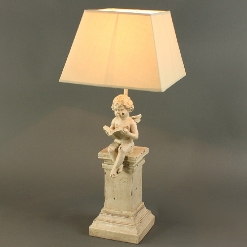 Table lamp angel 60cm table lamp shabby chic lamp cottage for Lampe style shabby chic
