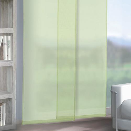 panneau japonais max vert 60x245cm accessoires de draperie rideau plat ski ebay. Black Bedroom Furniture Sets. Home Design Ideas