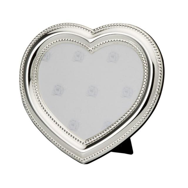 bilderrahmen herz silber metall 9cm entdecken sie die welt der geschenke. Black Bedroom Furniture Sets. Home Design Ideas